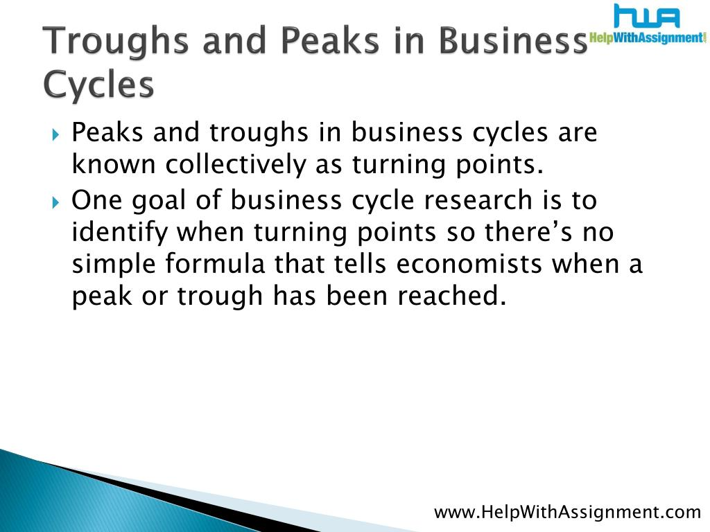 Troughs and Peaks in Business Cycles