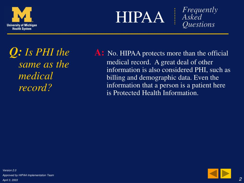 PPT - HIPAA Frequently Asked Questions PowerPoint