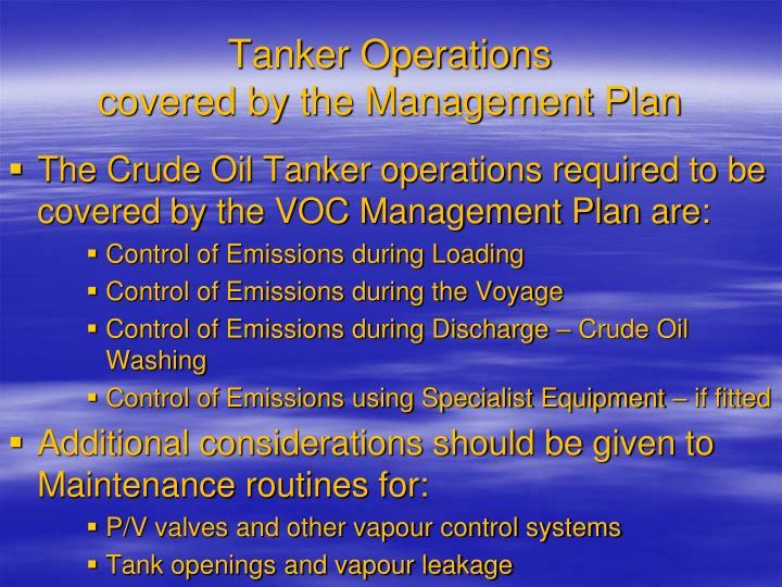 Tanker Operations