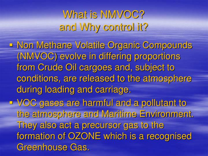 What is nmvoc and why control it