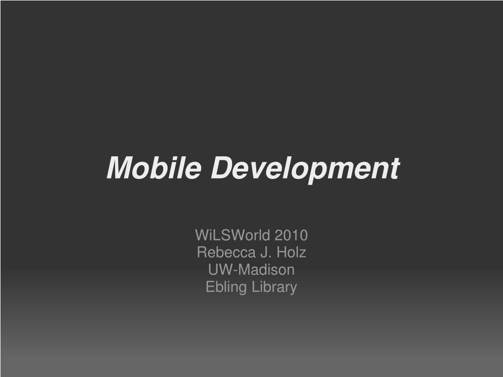mobile development l.