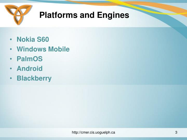 Platforms and engines3