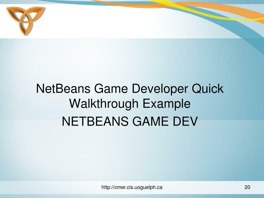 NetBeans Game Developer Quick Walkthrough Example