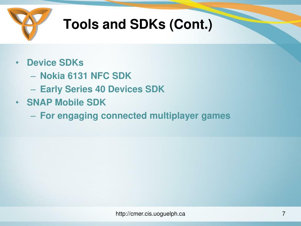 Tools and SDKs (Cont.)