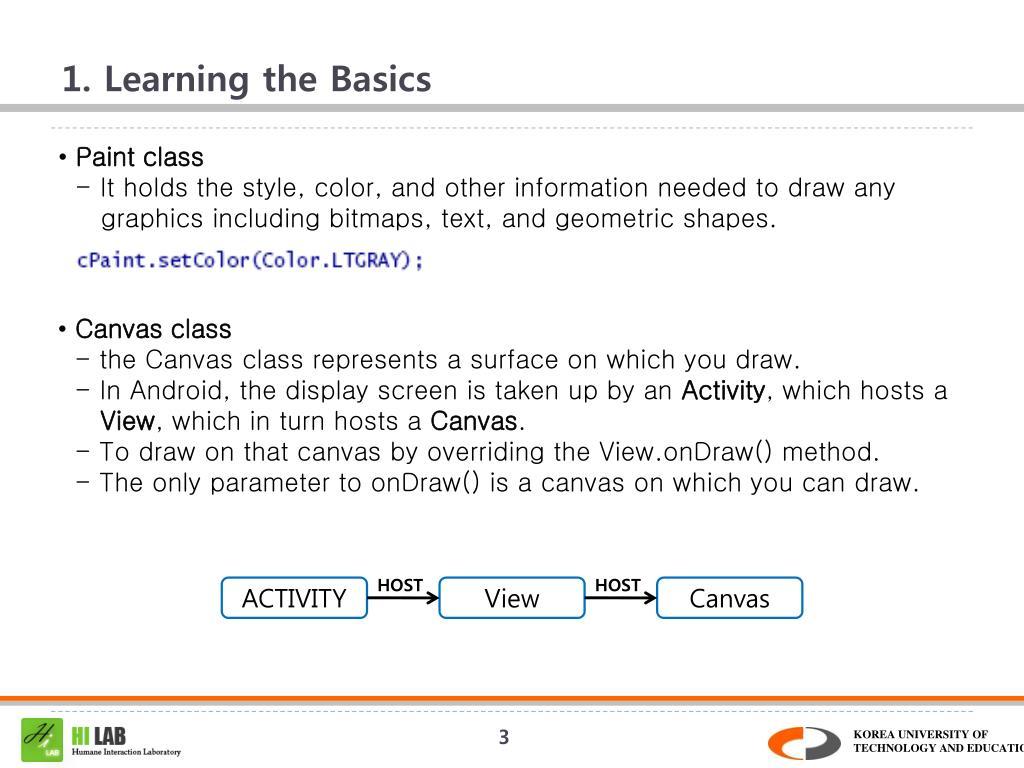 1. Learning the Basics