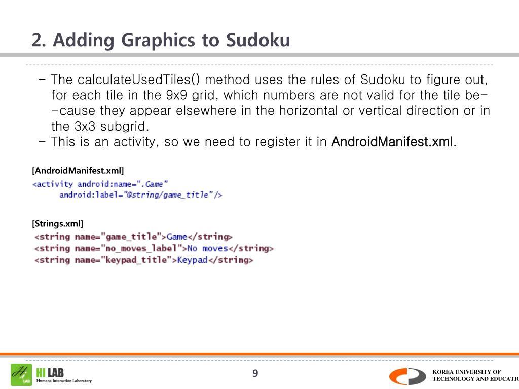 2. Adding Graphics to Sudoku