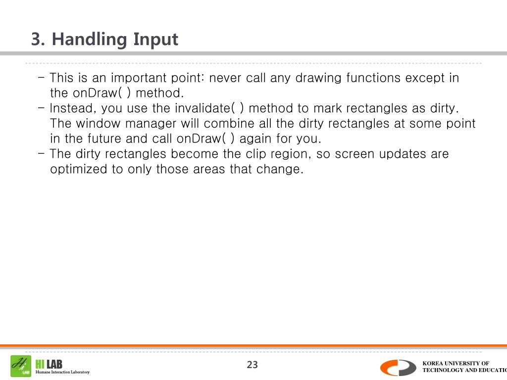 3. Handling Input