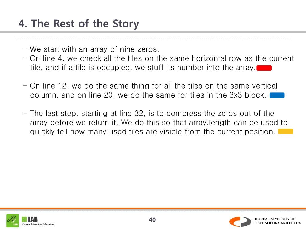 4. The Rest of the Story