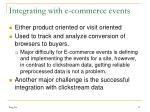 integrating with e commerce events