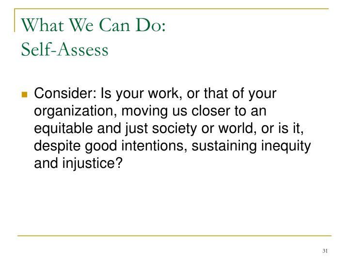 What We Can Do: