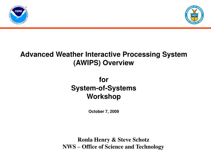 PPT - Advanced Weather Interactive Processing System (AWIPS ...