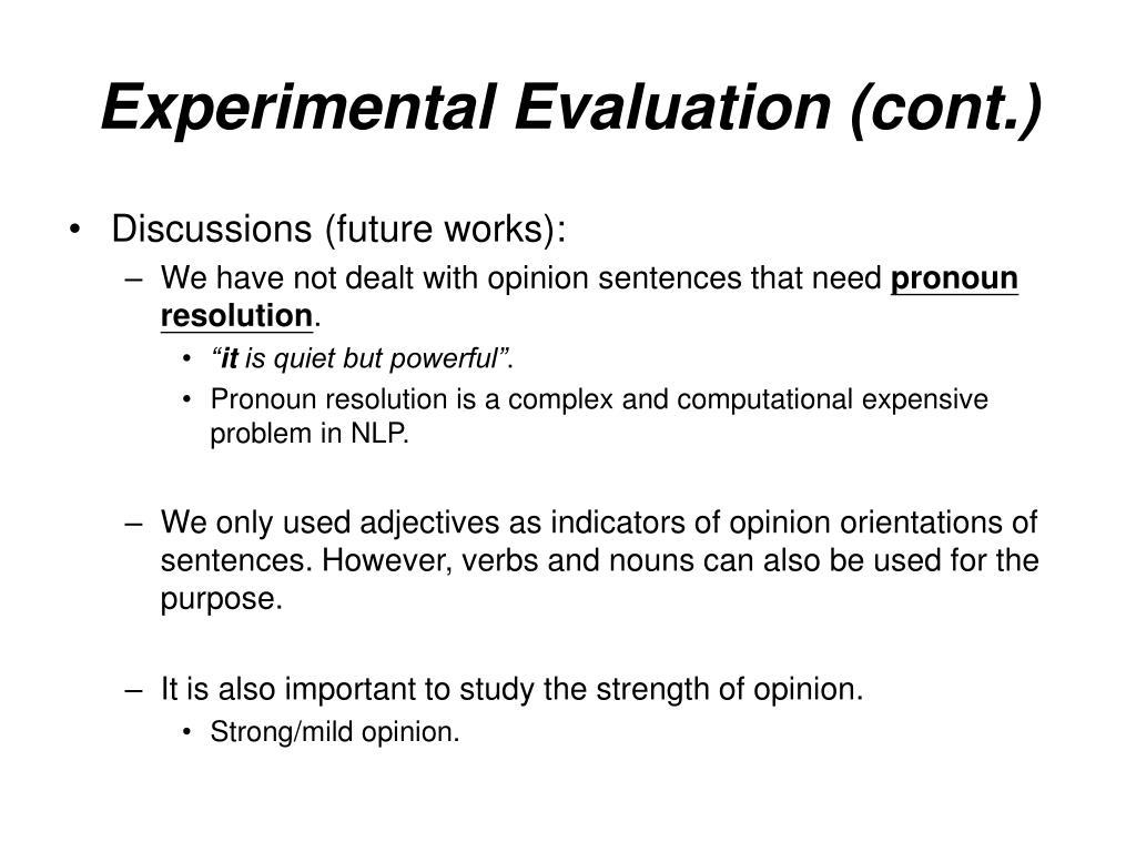 Experimental Evaluation (cont.)