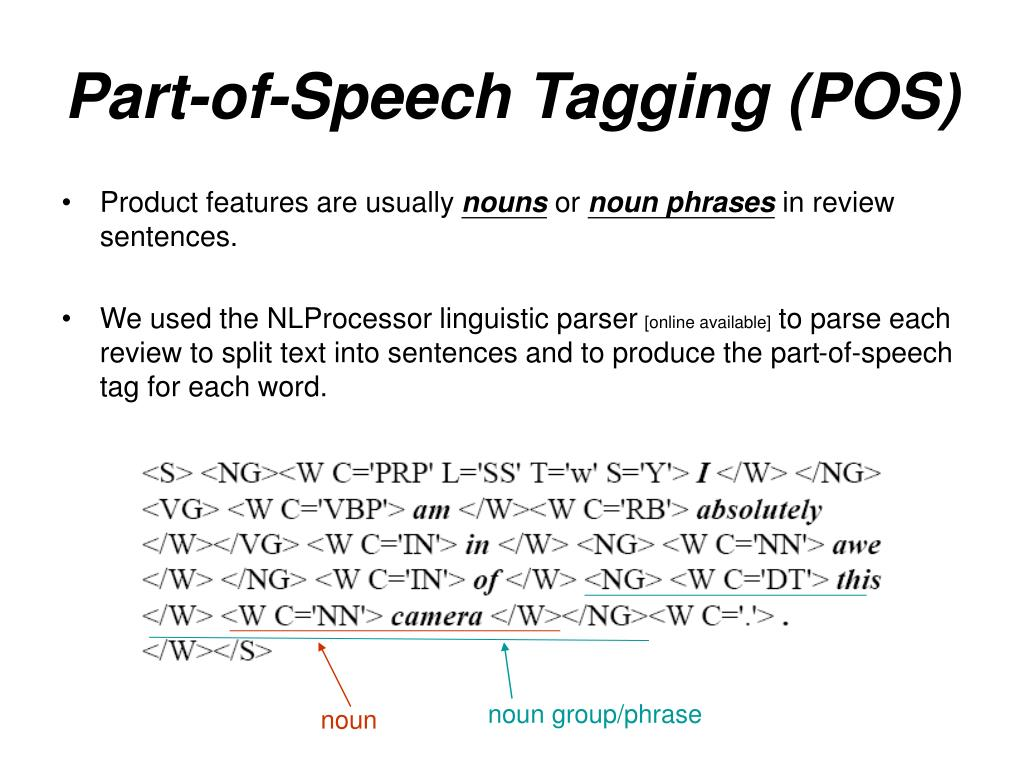 Part-of-Speech Tagging (POS)