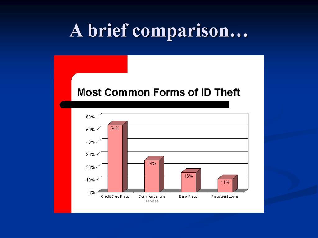 A brief comparison…