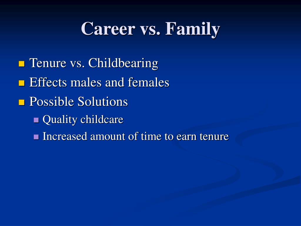 Career vs. Family
