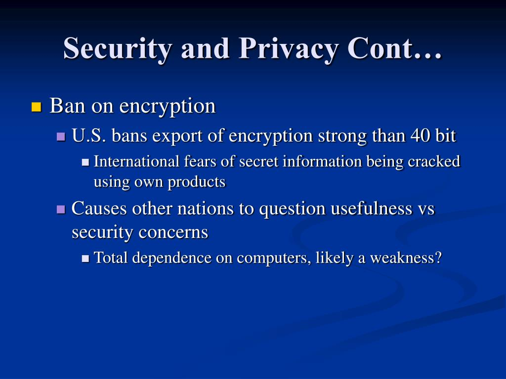 Security and Privacy Cont…
