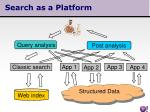 search as a platform