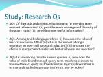 study research qs