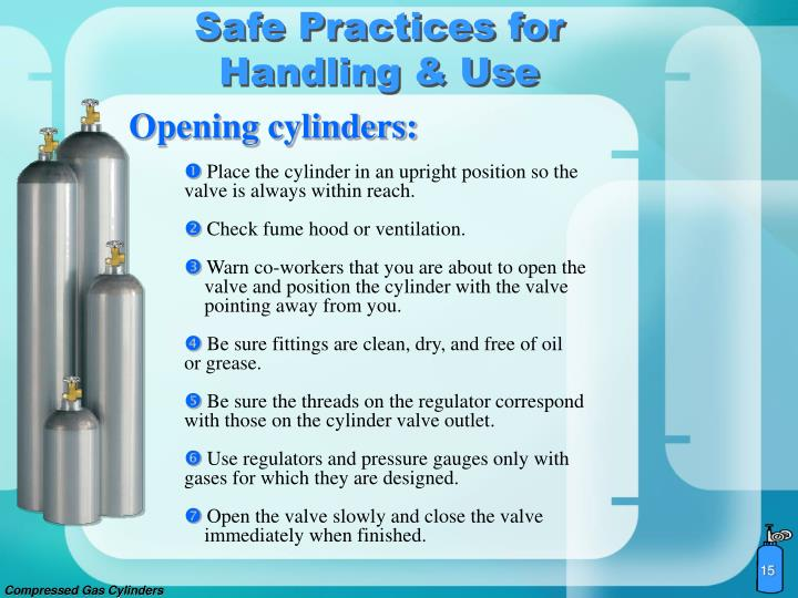 ppt compressed gas cylinders powerpoint presentation