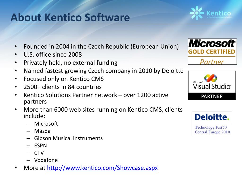 About Kentico Software