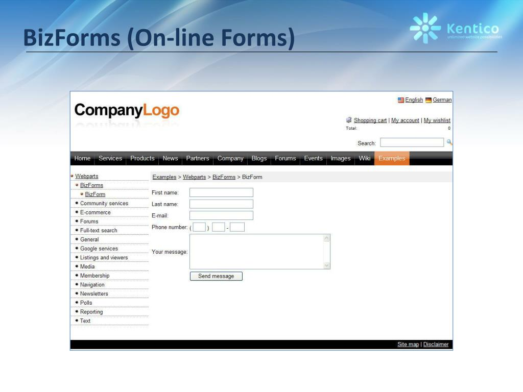 BizForms (On-line Forms)