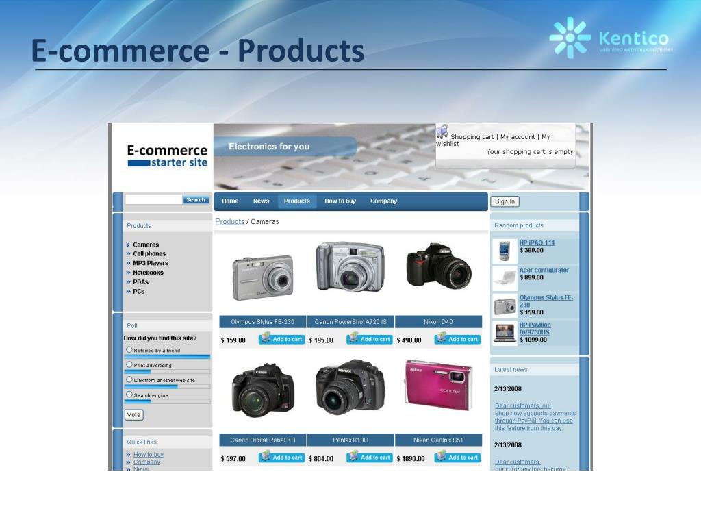 E-commerce - Products