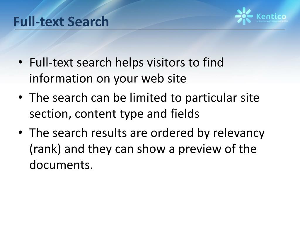 Full-text Search