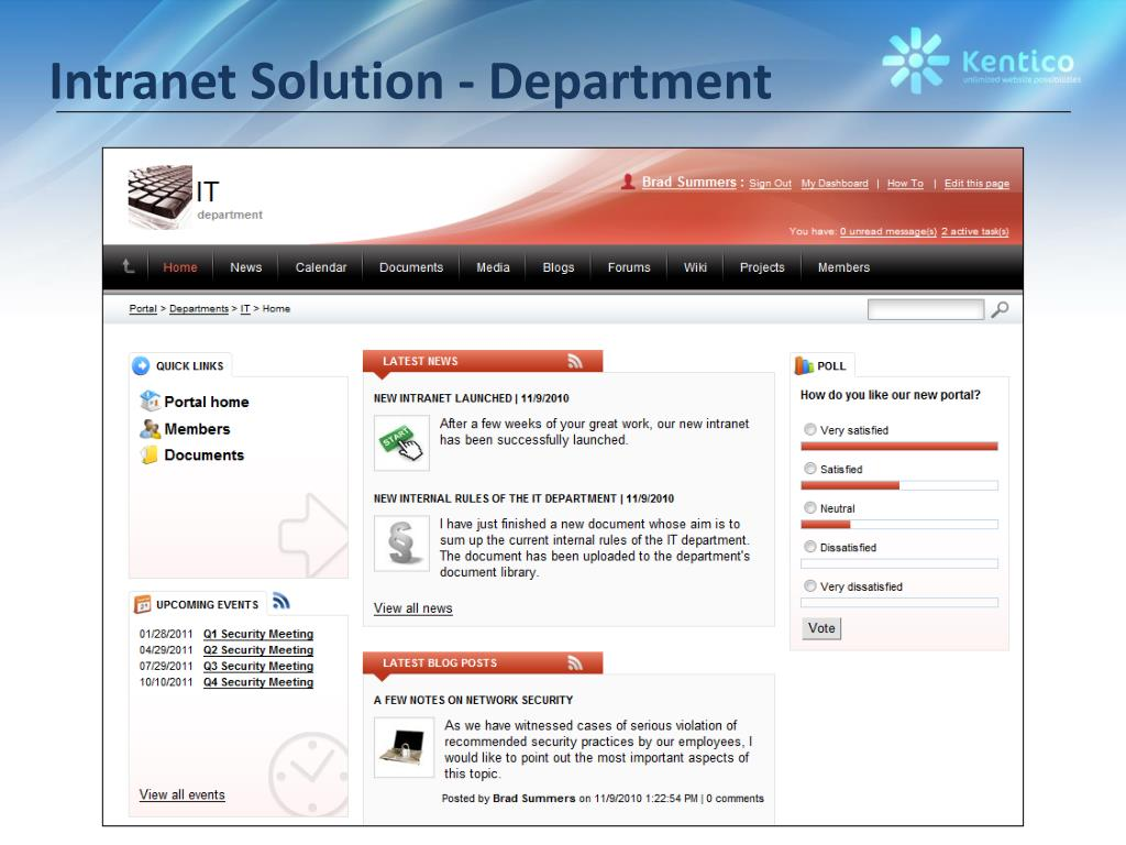 Intranet Solution - Department