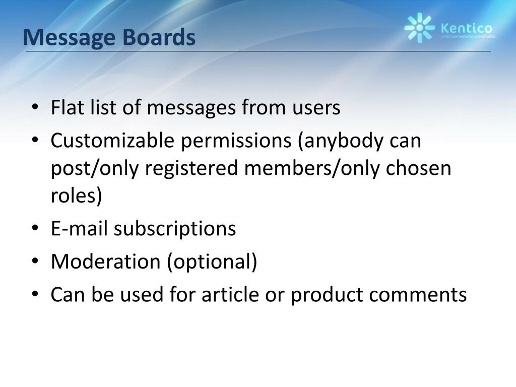 Message Boards
