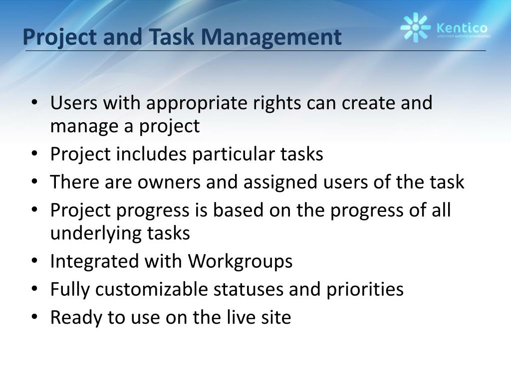 Project and Task Management