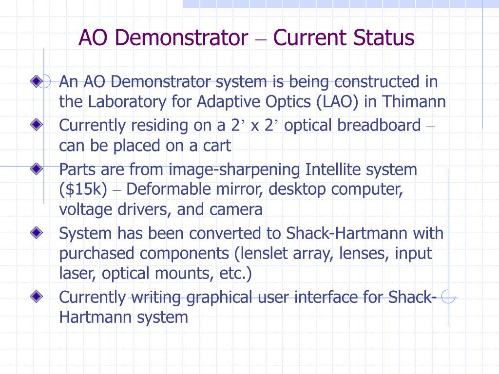 AO Demonstrator