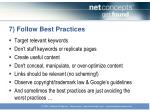 7 follow best practices