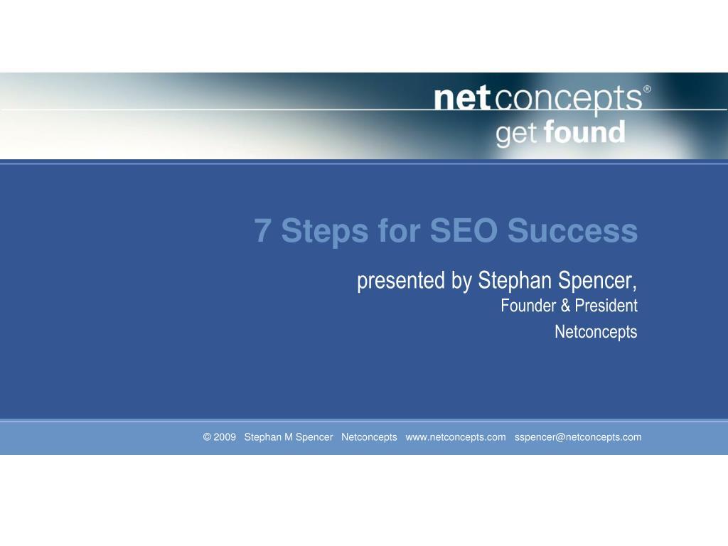 7 steps for seo success l.