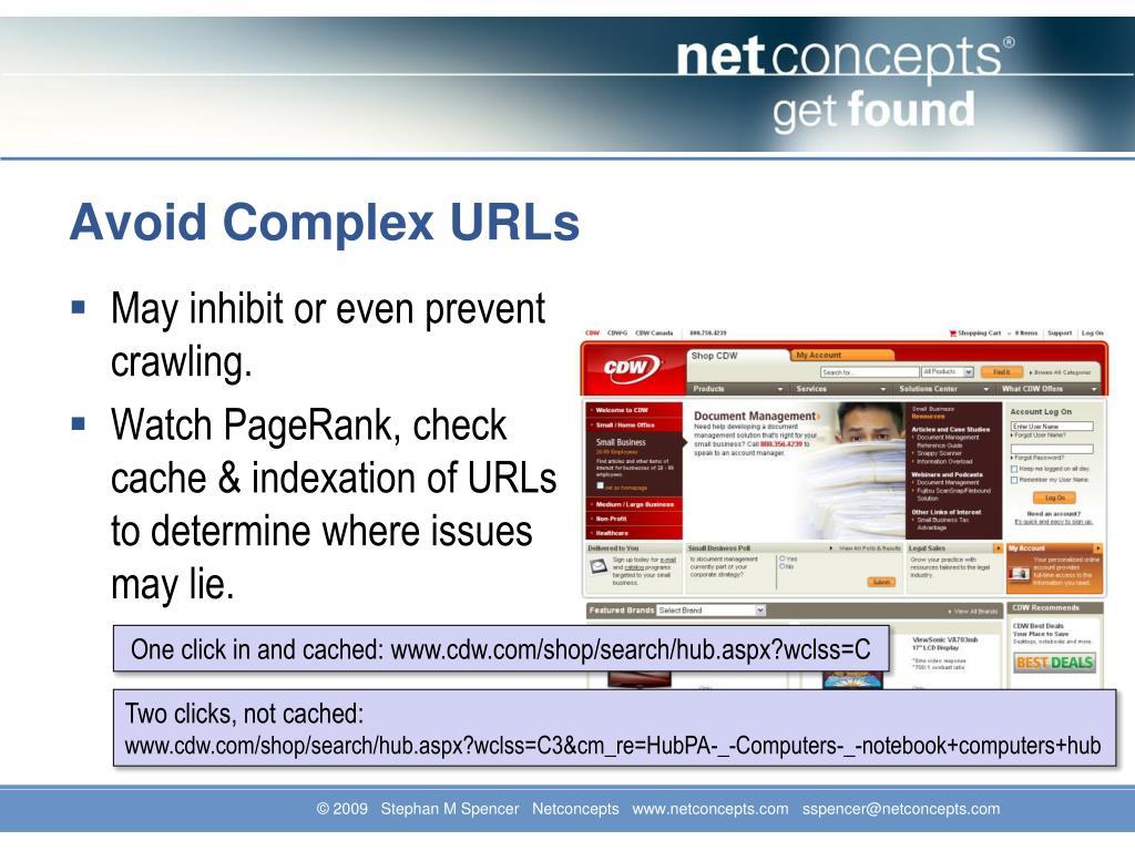 Avoid Complex URLs