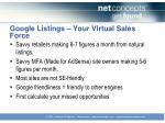 google listings your virtual sales force