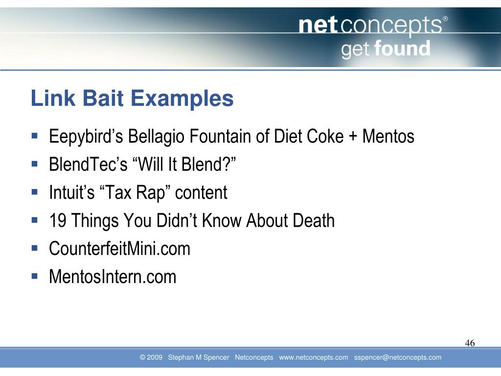 Link Bait Examples
