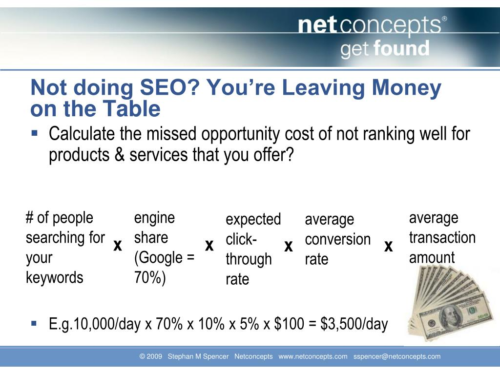 Not doing SEO? You're Leaving Money on the Table