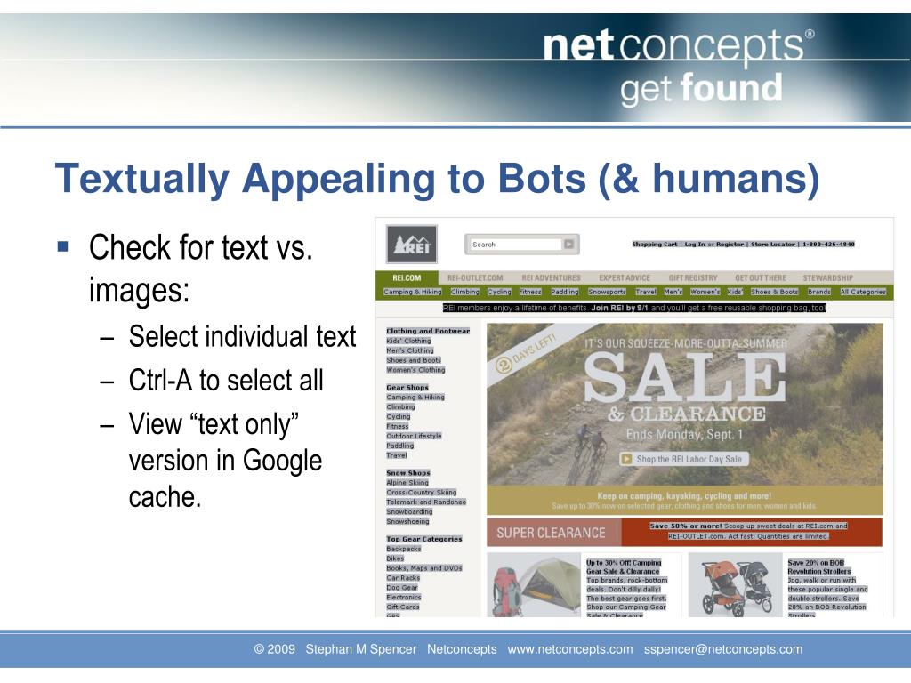 Textually Appealing to Bots (& humans)