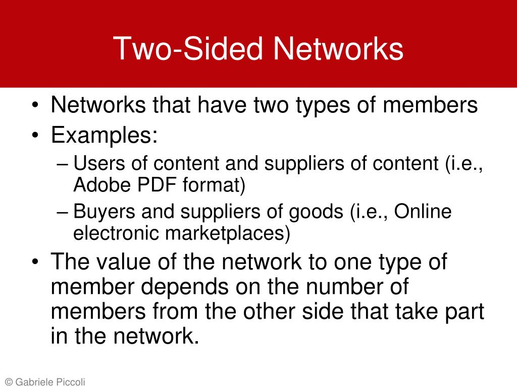 Two-Sided Networks