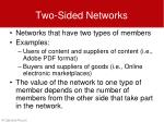 two sided networks