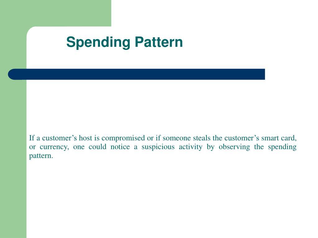 Spending Pattern