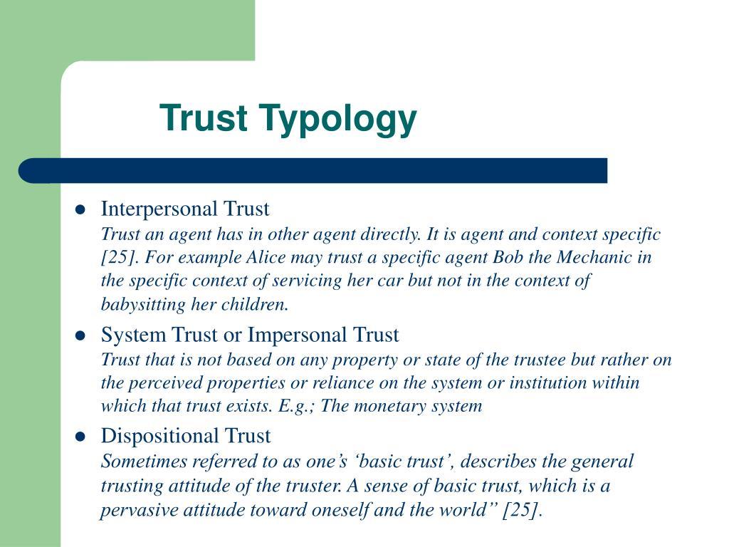 Trust Typology