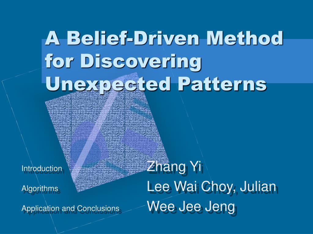 a belief driven method for discovering unexpected patterns l.