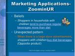 marketing applications zoominur