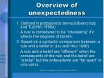 overview of unexpectedness