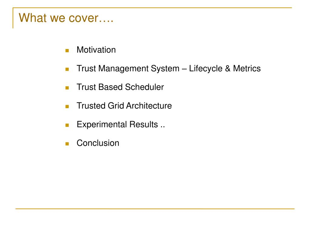 What we cover….
