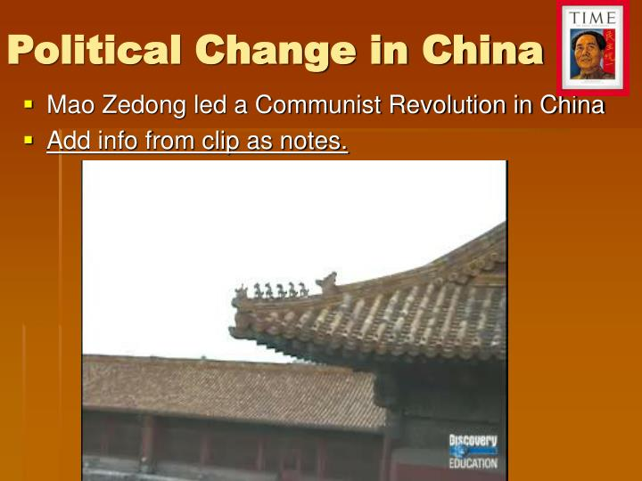 Political Change in China