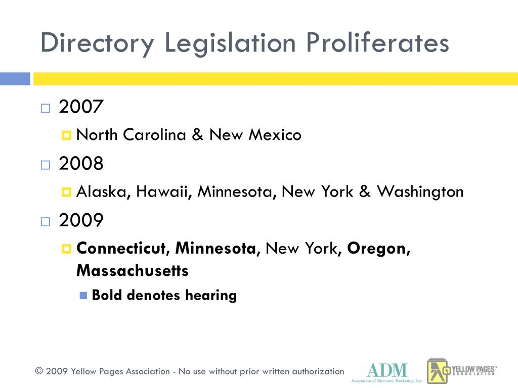 Directory Legislation Proliferates