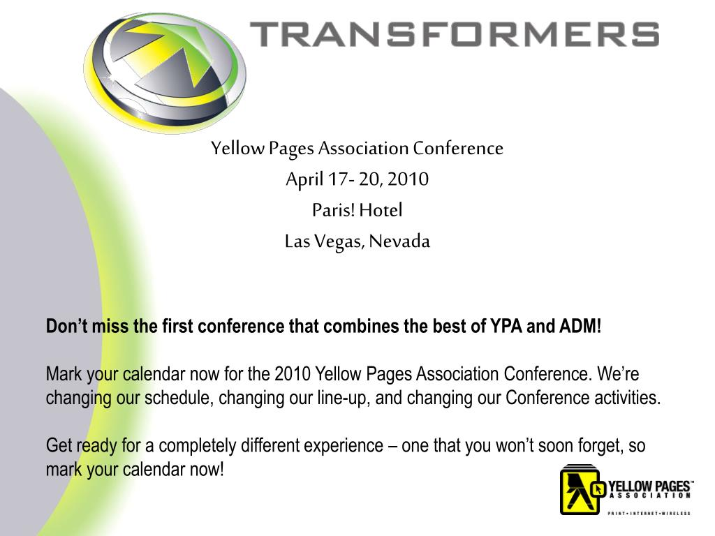 Yellow Pages Association Conference
