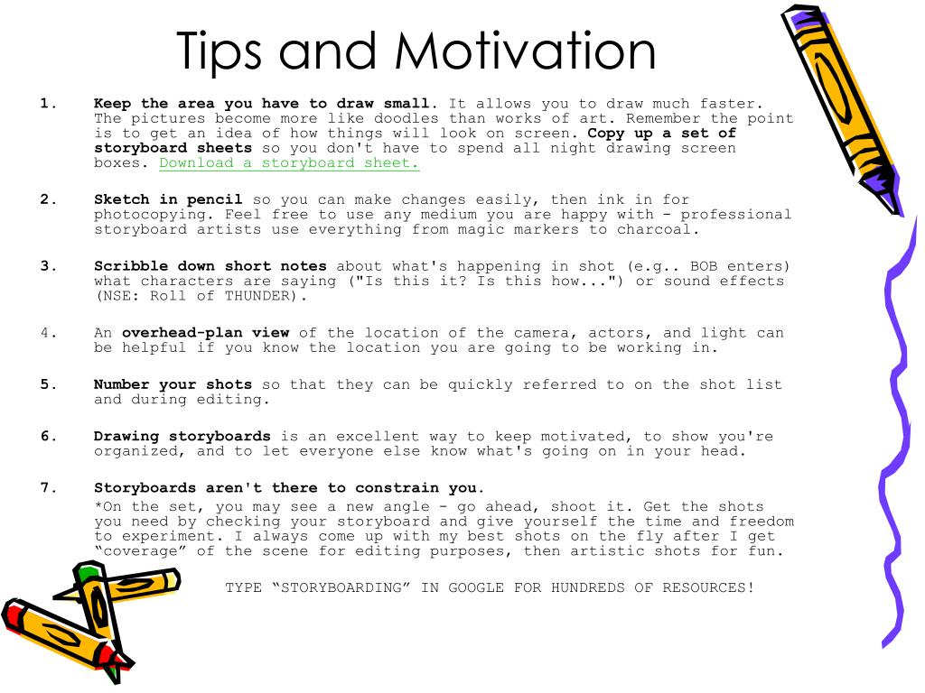 Tips and Motivation